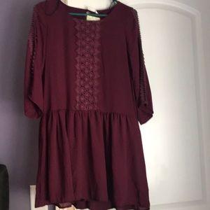 Plum tunic Style dress